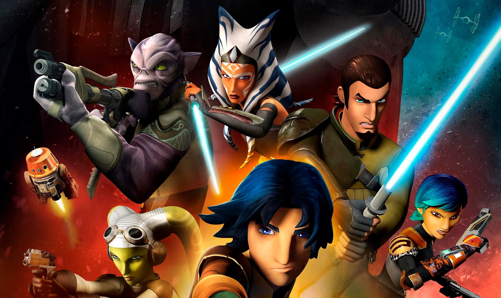 Star Wars Rebels is an animated television series set during the time frame between the films Star Wars Episode III Revenge of the Sith and Star Wars Episode IV A